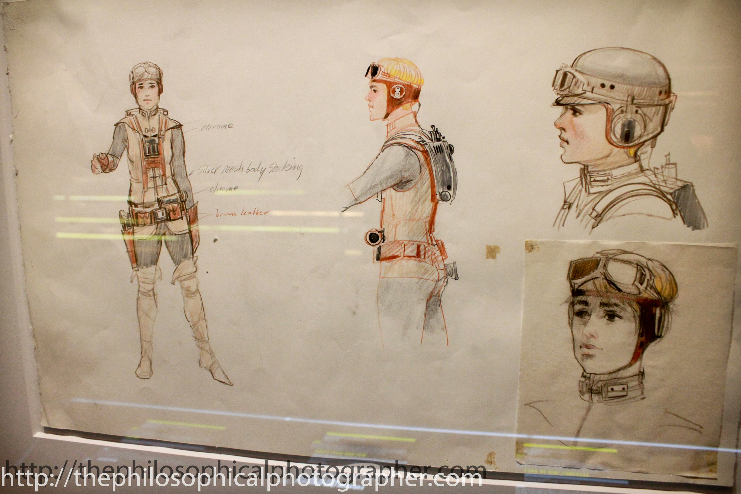 Early concepts with Luke as a female.
