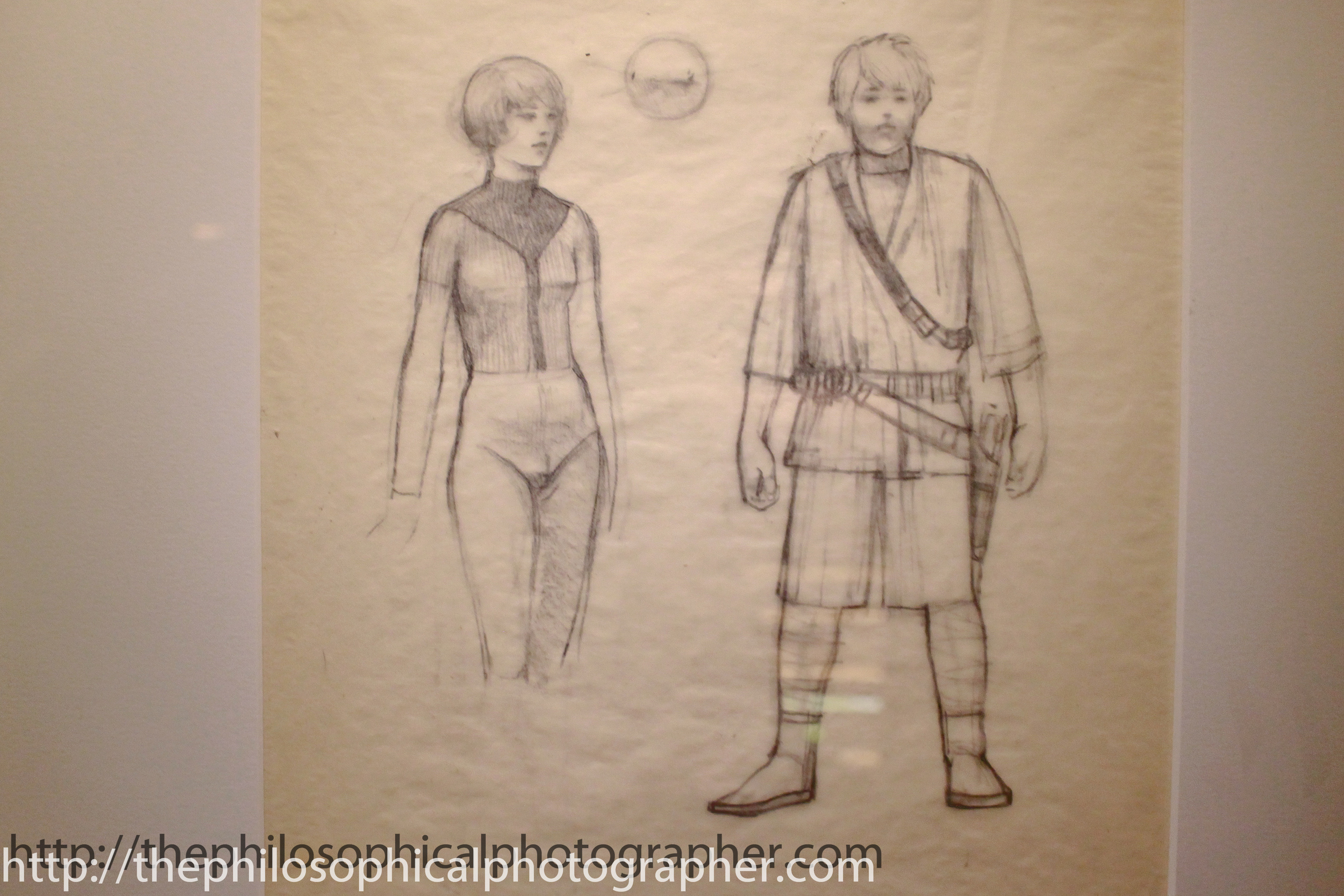 Early Luke and Leia sketches