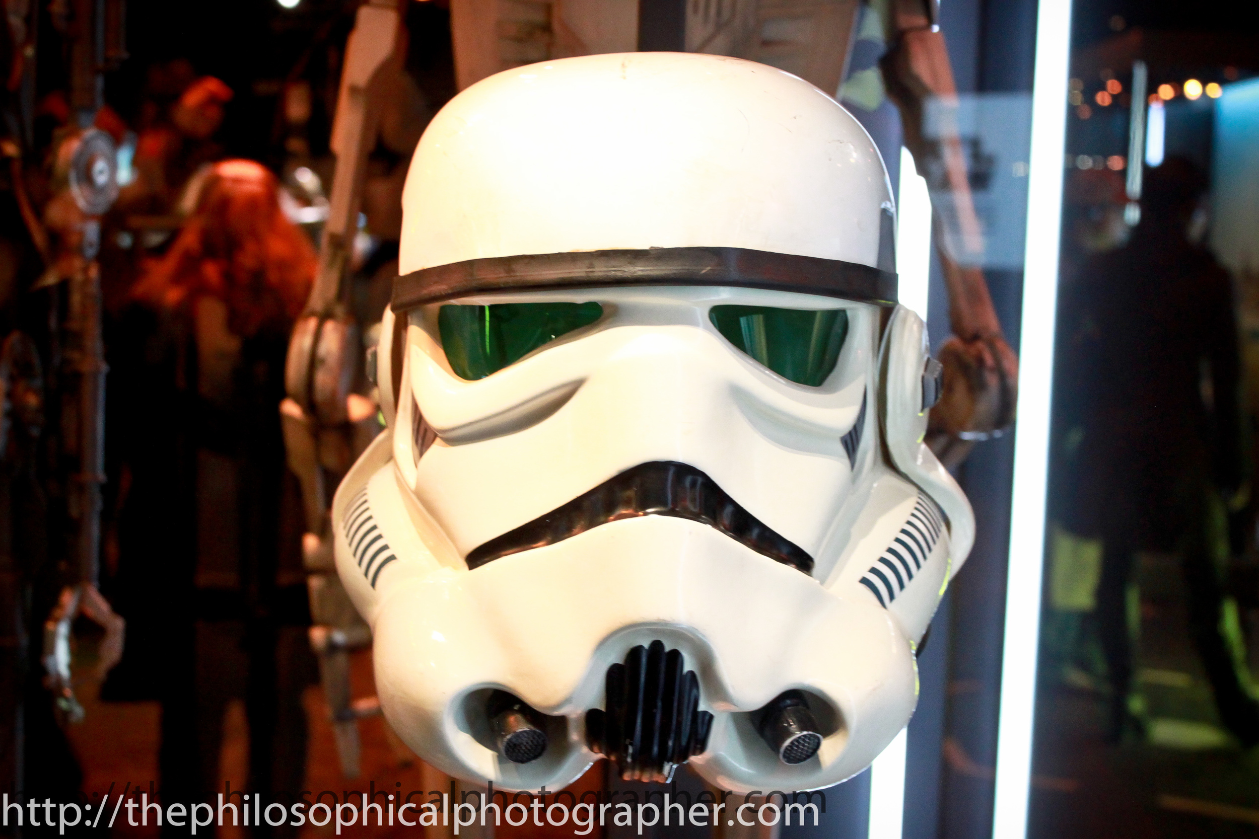 Storm Trooper helmet. Almost looked comical when up close, but don't tell anyone I said so!