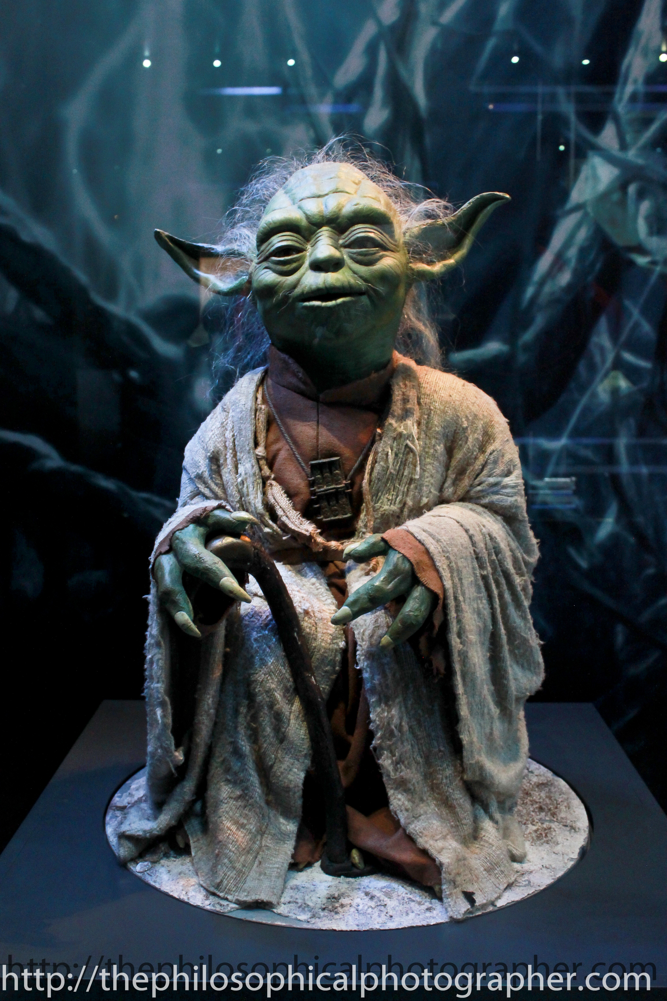 Yoda model used in the latest Star Wars movie
