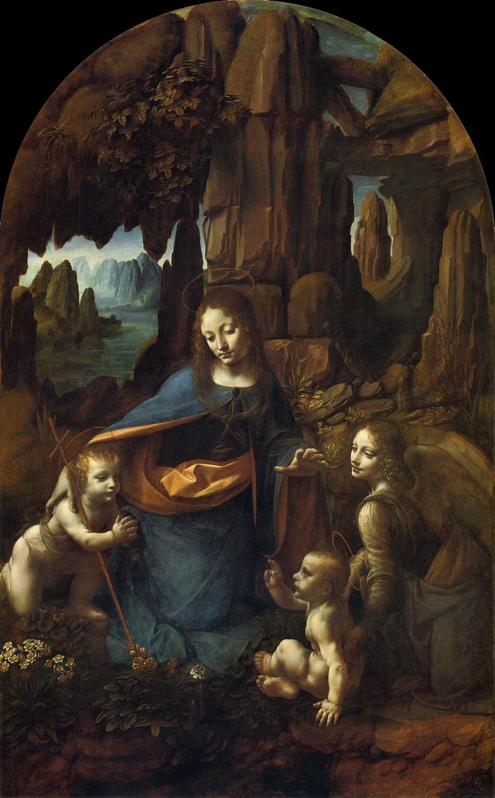 Leonardo da Vinci, Virgin of the Rocks, c. 1483-1486, Musee du Louvre, Paris