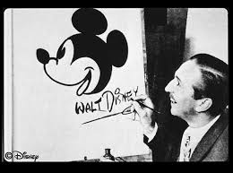 Walt Disney seen here with Mickey Mouse