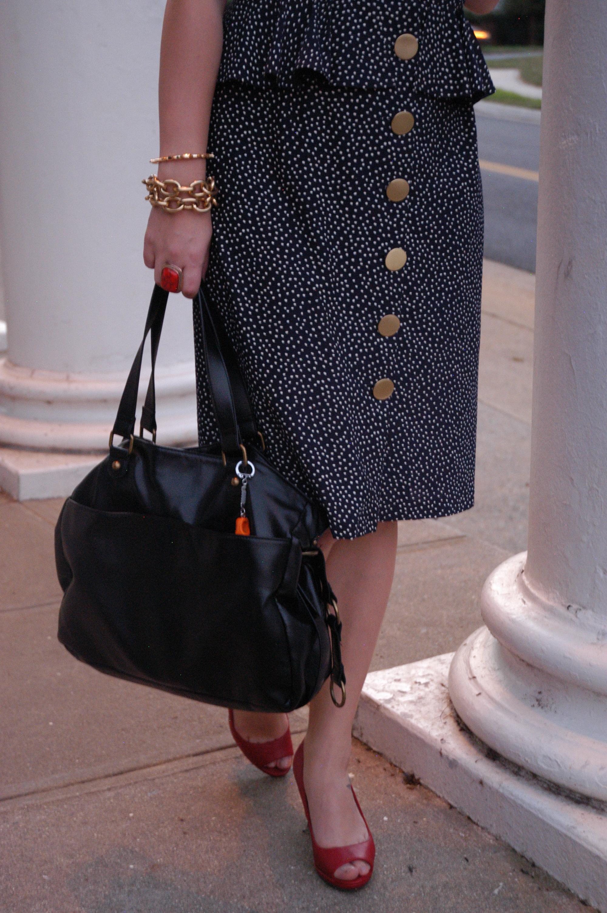 Dress: Vintage   Shoes: Target   Purse: Target   Jewelry: H&M, Joann Fabrics, 2020Ave, Target