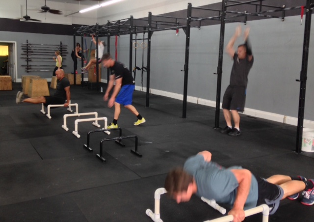 Our crossfitters are so fast they're blurry!