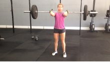 """Des got a PR in her clean on Saturday before we did Hero Wod """"Hall"""". Way to go Des!!!!"""