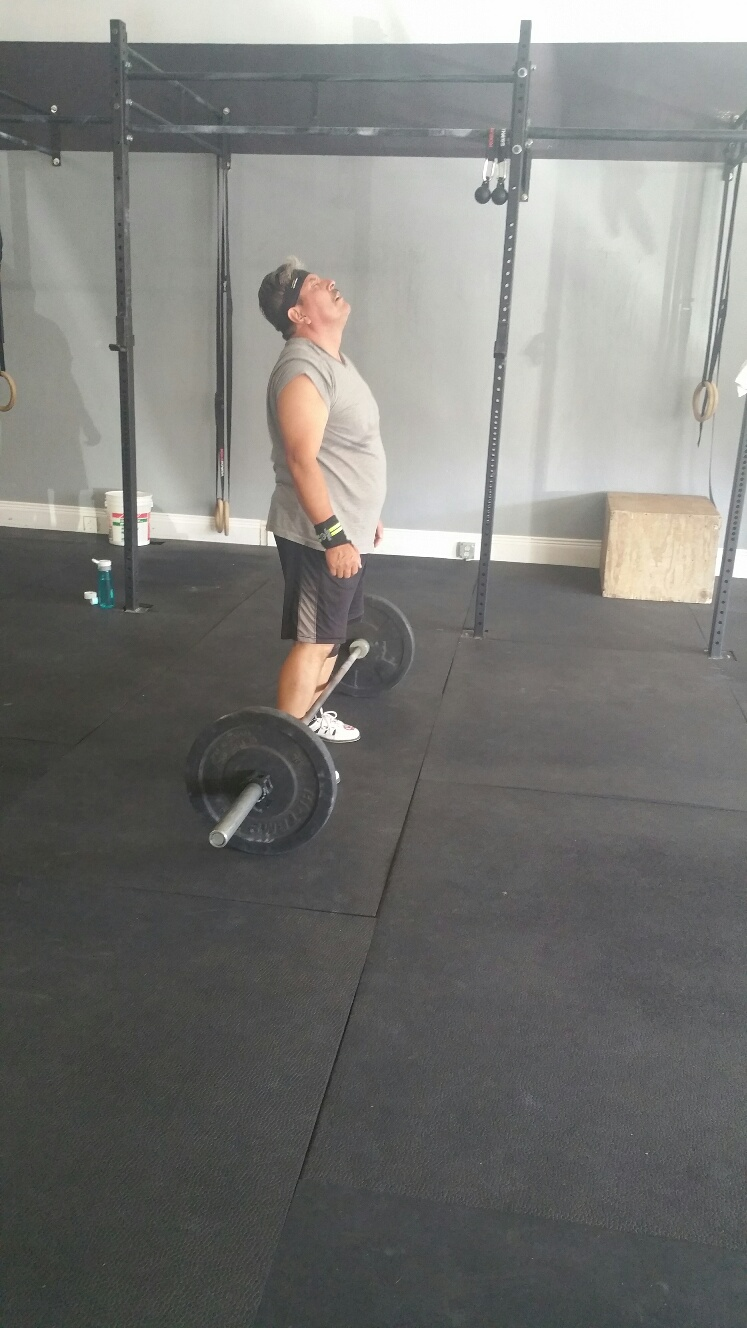 """Angelo: """"Dear Lord,if it's okay with you, I'd just like to be done with this WOD now..."""""""