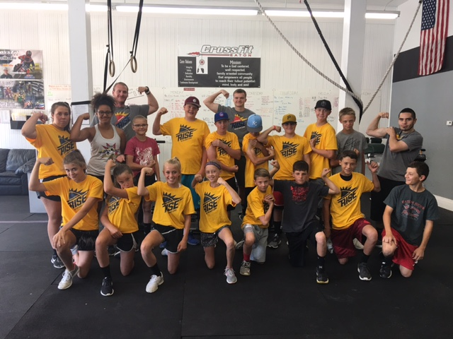 Session 1 was awesome!  Now session 2 of RISE Athlete Camp and KIDS CrossFit Camp starts THIS WEEK!  If you haven't registered yet, come on in!