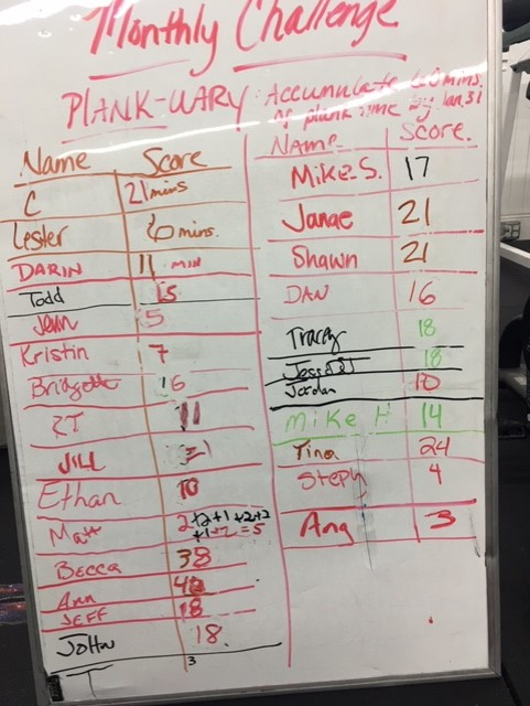We're almost half way through PLANK-uary!   *I helped you out with your math again Matt. :)