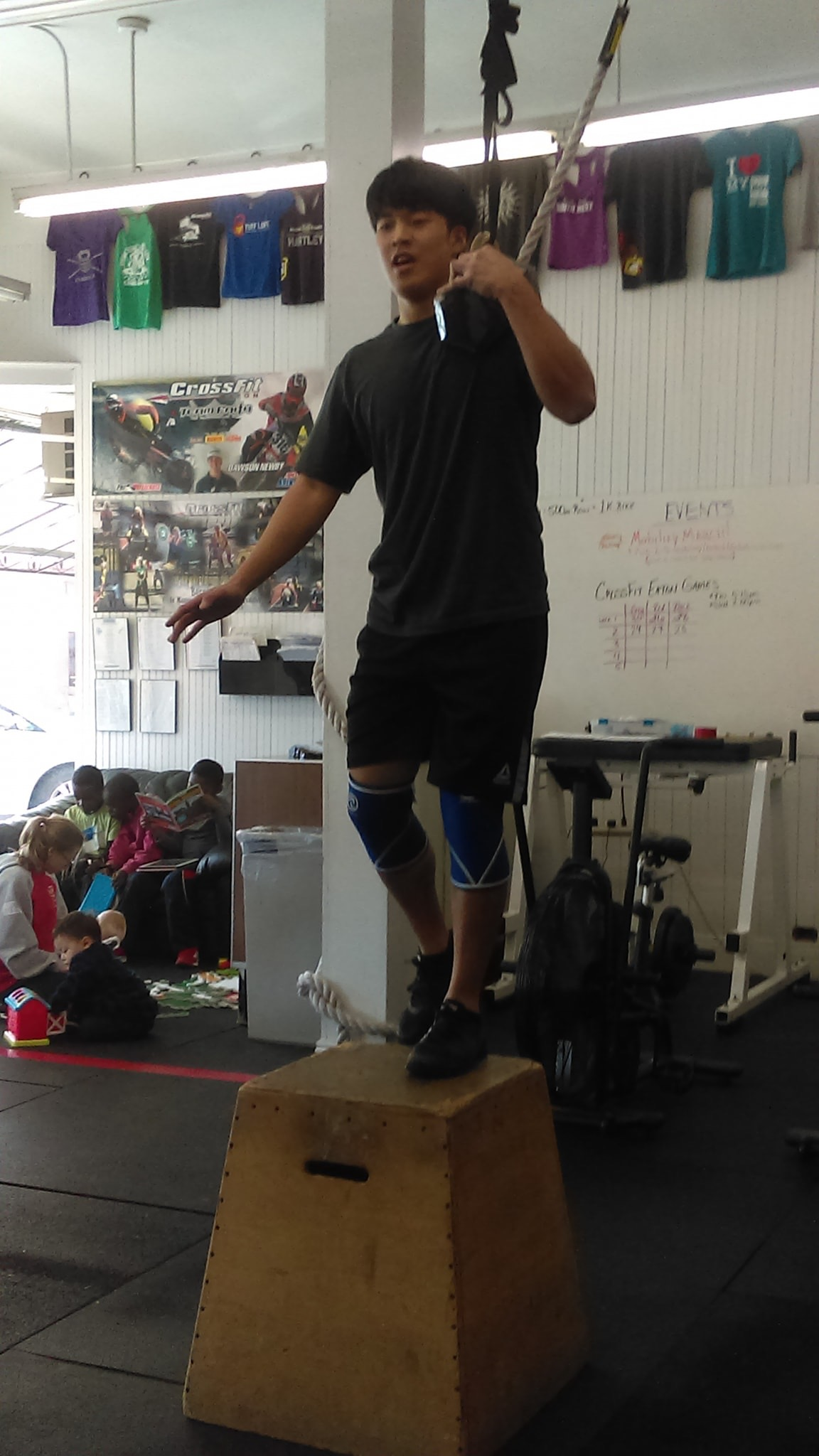 James busting out those weighted step ups like a boss!