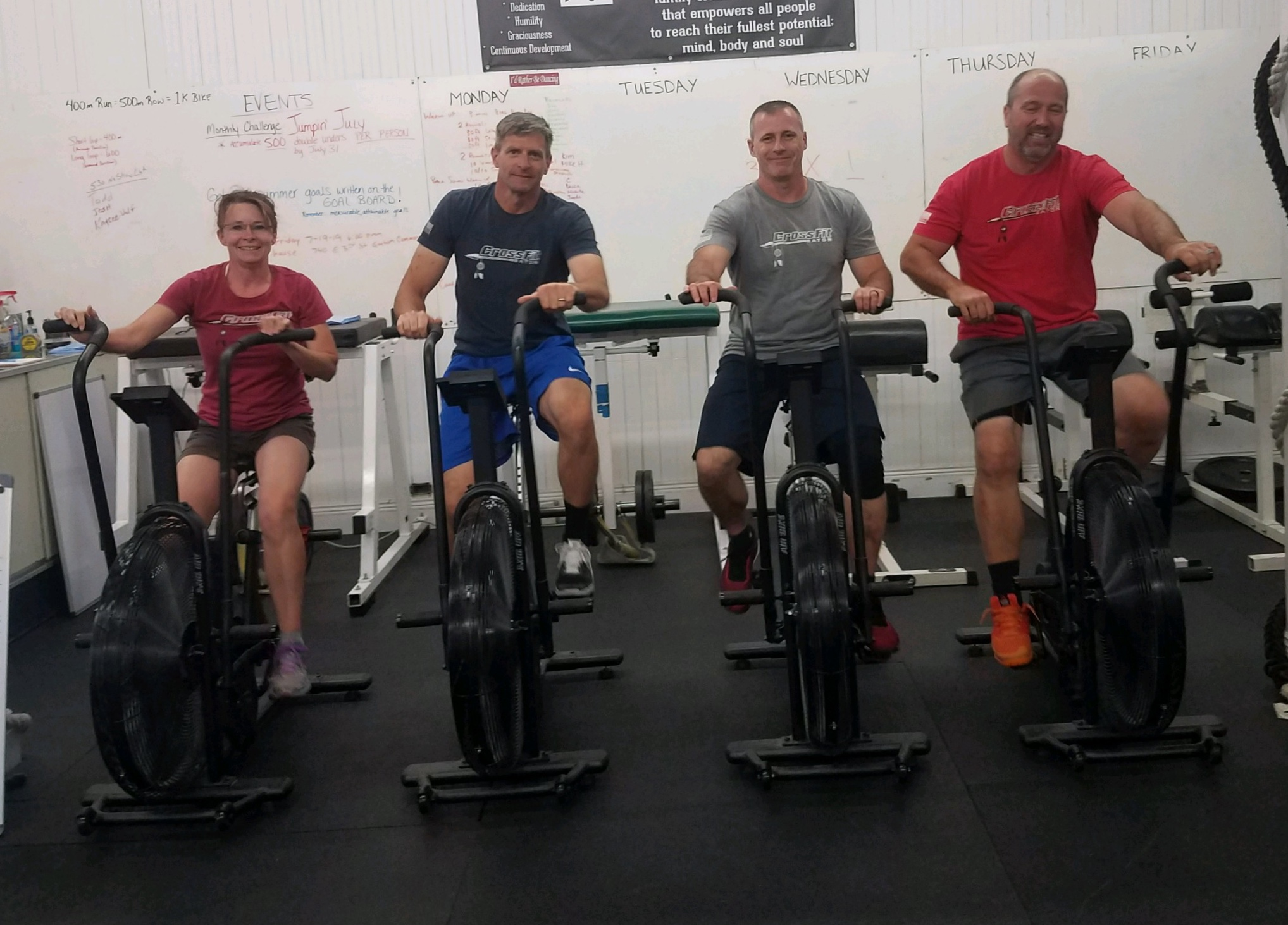 Obviously, these guys haven't done the wod yet, they're all still smiling!