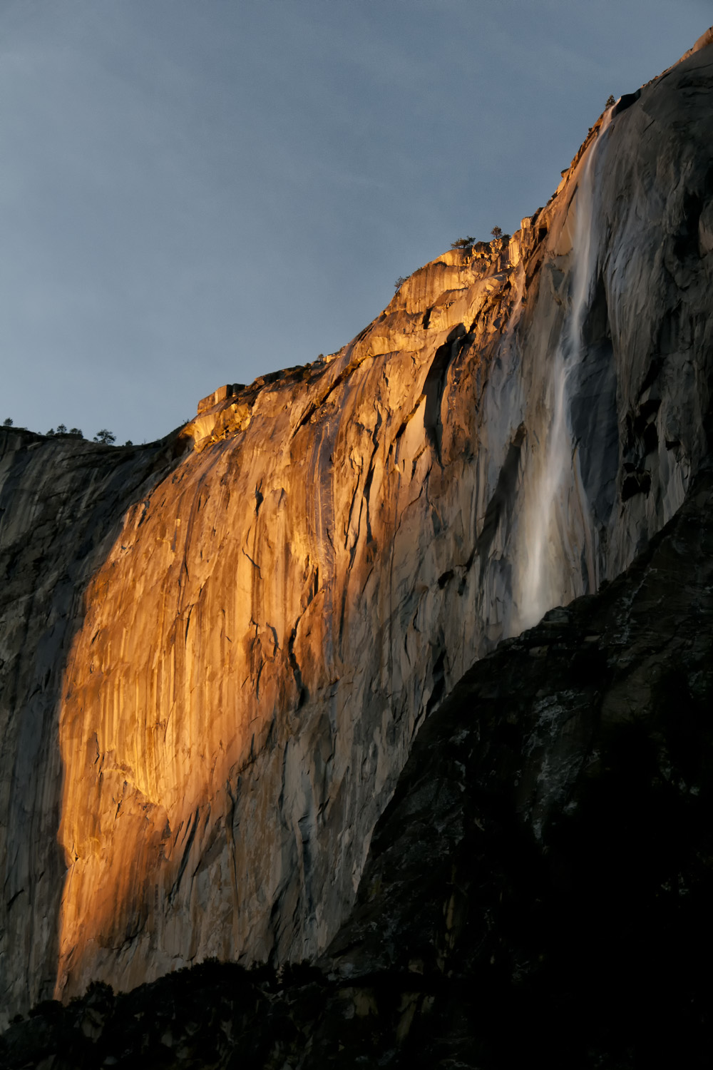 Horsetail Fall in January