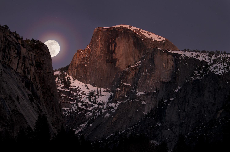 Half Dome at Moonrise