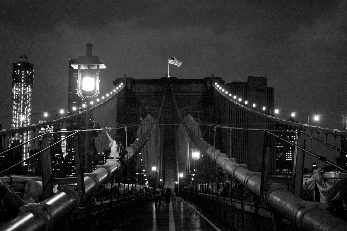 Couple on Brooklyn Bridge,  2012