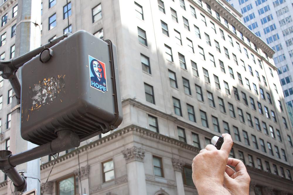 New York City, Hope, Shepard Fairey, tourist, Guy Fawkes, V for Vendetta, Anonymous