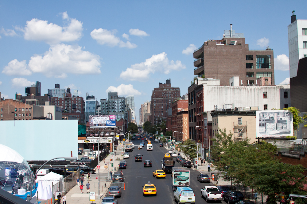 NYC, street, view from High Line Park, Chelsea