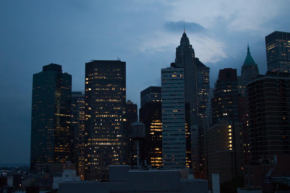 New York City skyline twilight Manhattan