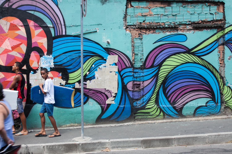 Rio de Janeiro, Vidigal, favela, landscape, travel photography, Brazil, Brasil, people, kids, portrait, street art, graffiti