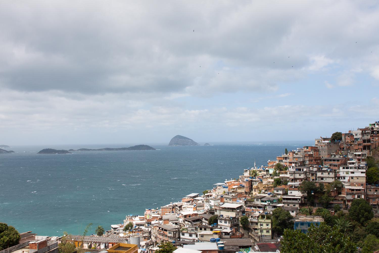 Rio de Janeiro, Vidigal, favela, landscape, travel photography, Brazil, Brasil, ocean, sky
