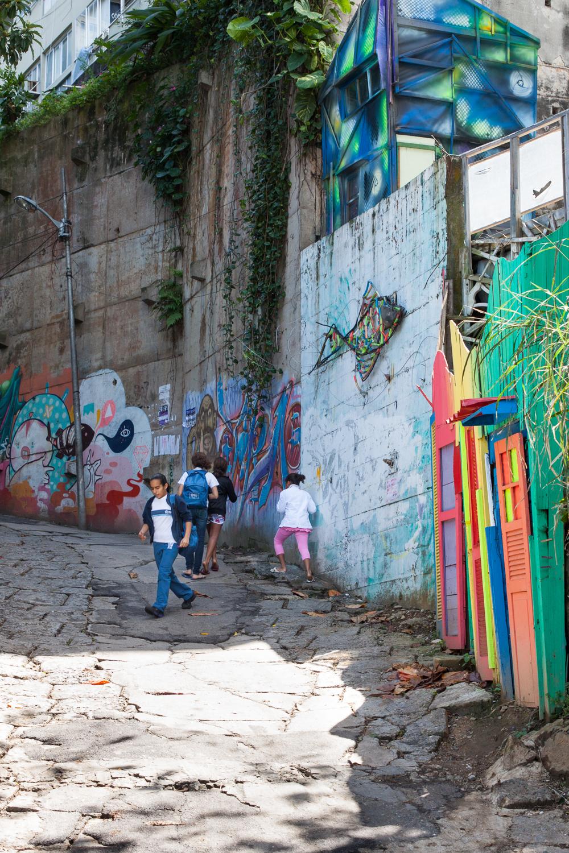 Rio de Janeiro, Vidigal, favela, landscape, travel photography, Brazil, Brasil, children, street art, graffiti