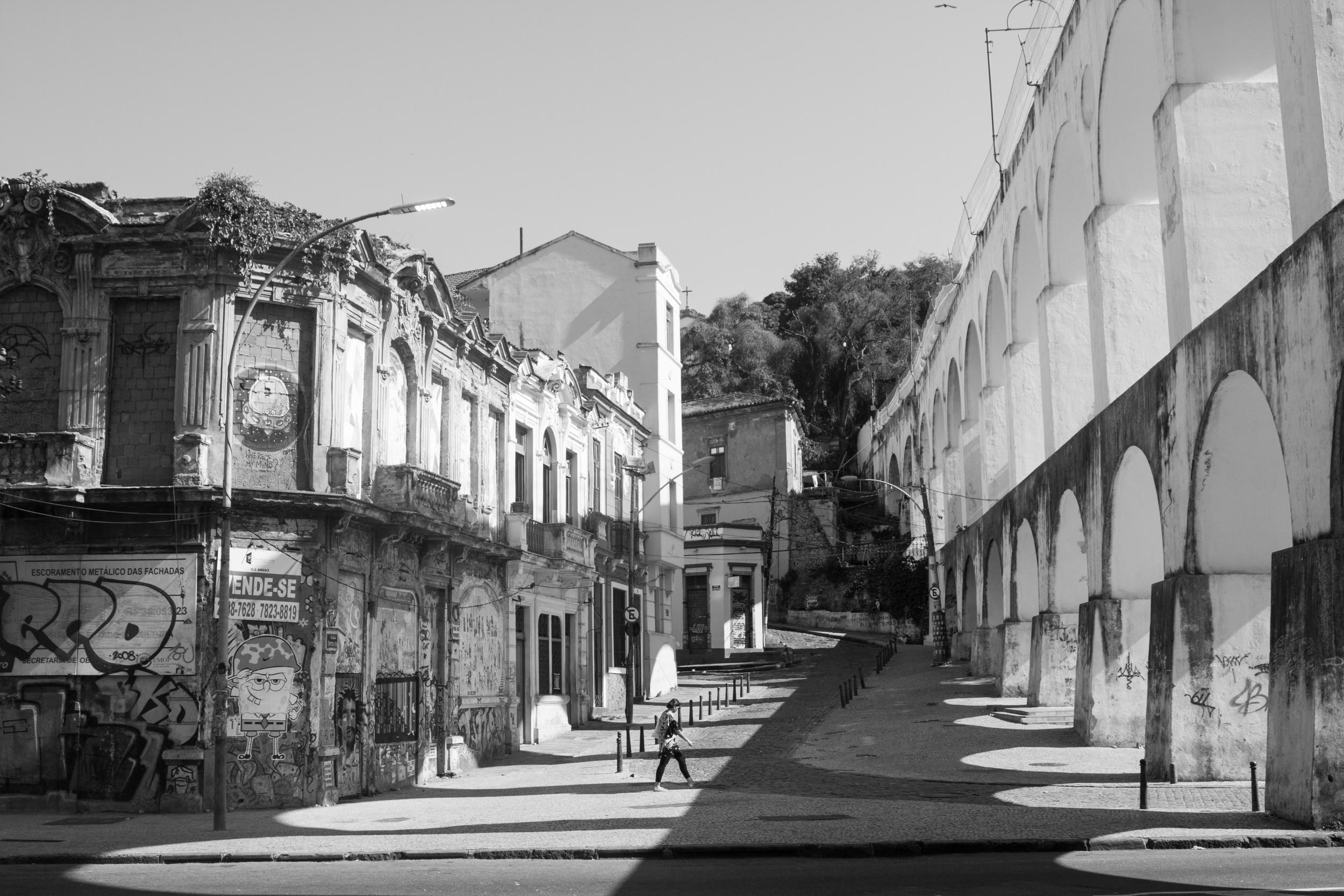 Brazil, Rio de Janeiro, Landscape, Travel photography, architecture, Lapa, arched bridge, street photography