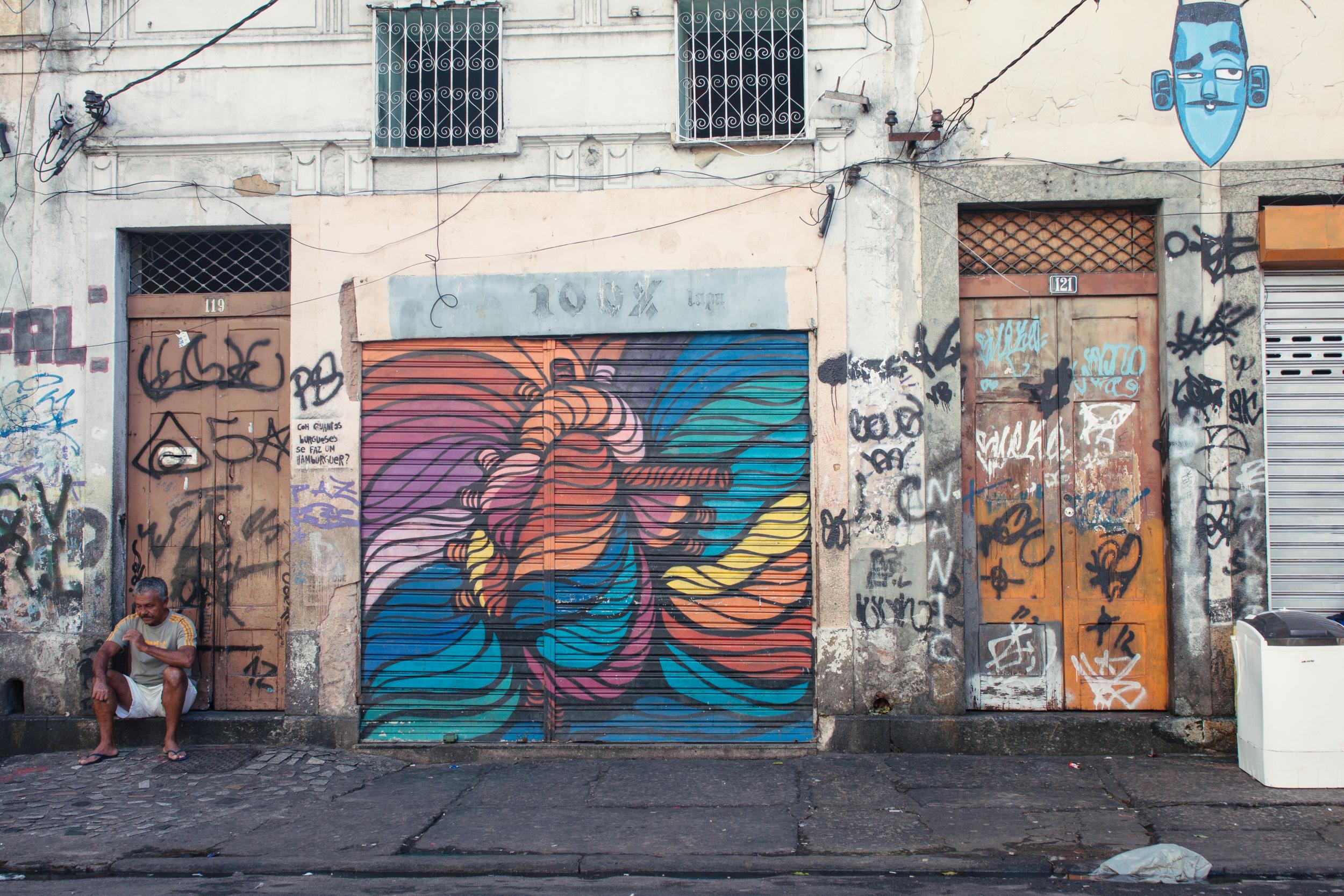 Brazil, Rio de Janeiro, Landscape, Travel photography, architecture, Lapa, arched bridge, street photography, graffiti
