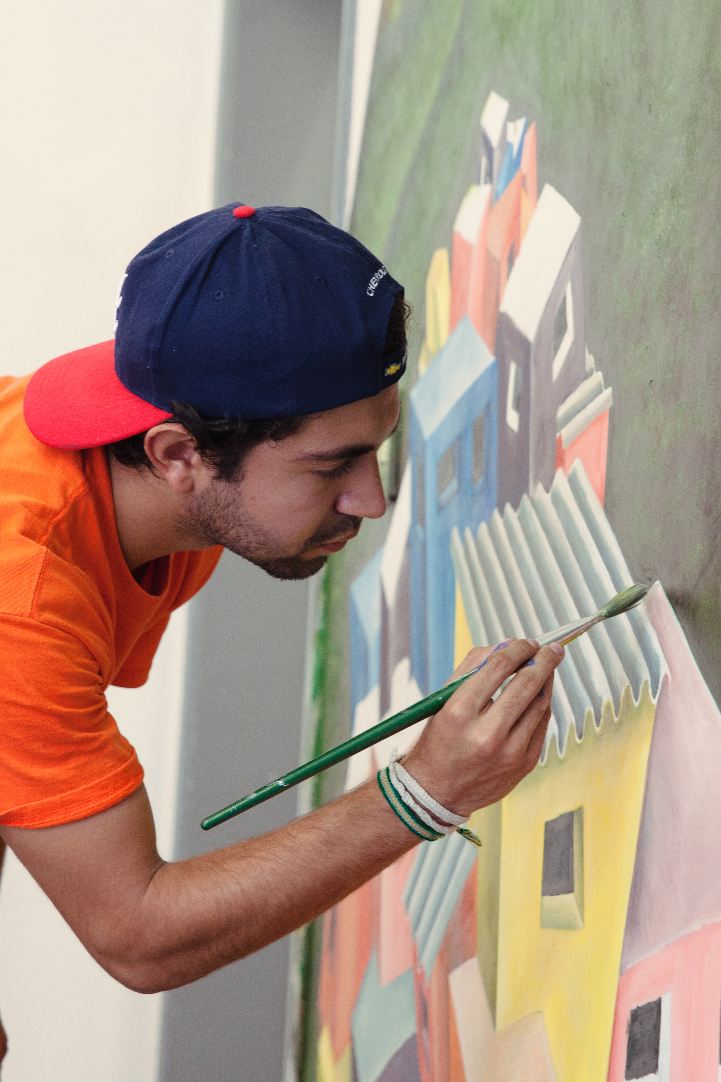 Rio de Janeiro, Brazil, landscape, travel photography, Rocinha, favela, Surfe Escola, surf school, artist, painting, Jose Hadathy