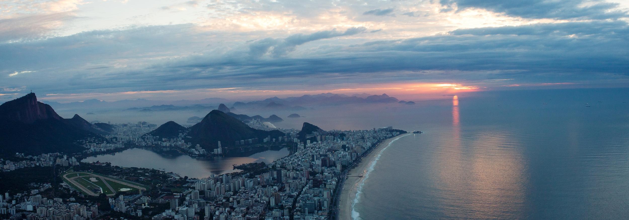 Rio de Janeiro, Brazil, landscape, travel photography, panorama, Two Brothers, Dos Irmaos, sunrise