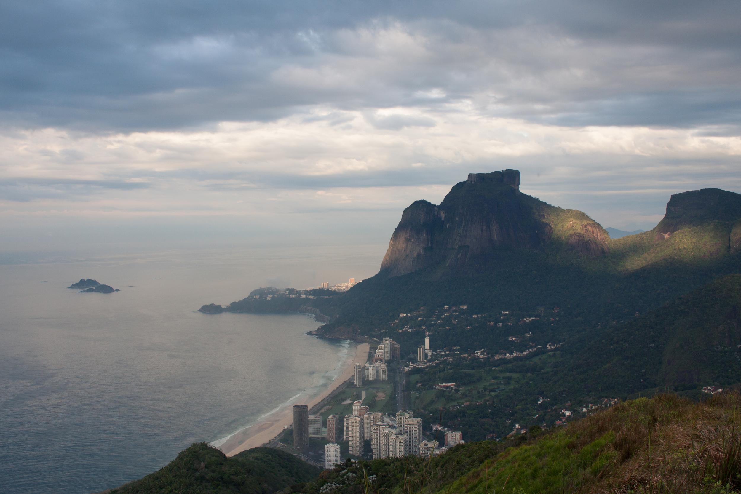 Rio de Janeiro, Brazil, landscape, travel photography, panorama, Two Brothers, Dos Irmaos, sunrise, Sao Conrado