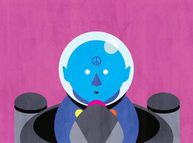 Blue Space Traveler