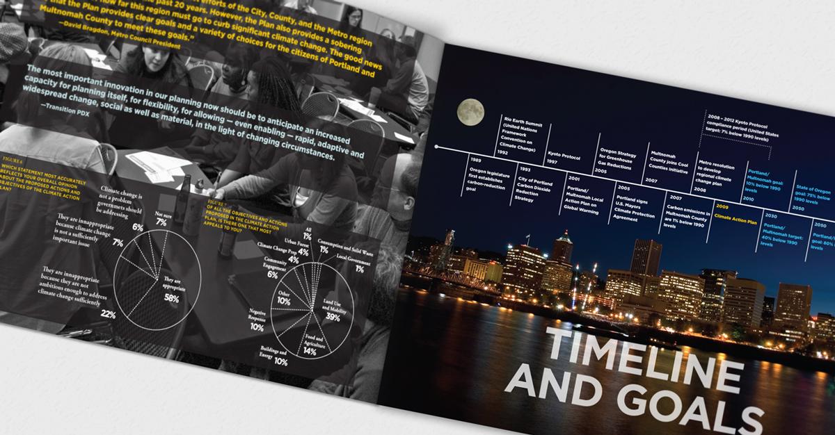 Information design and timeline layout.