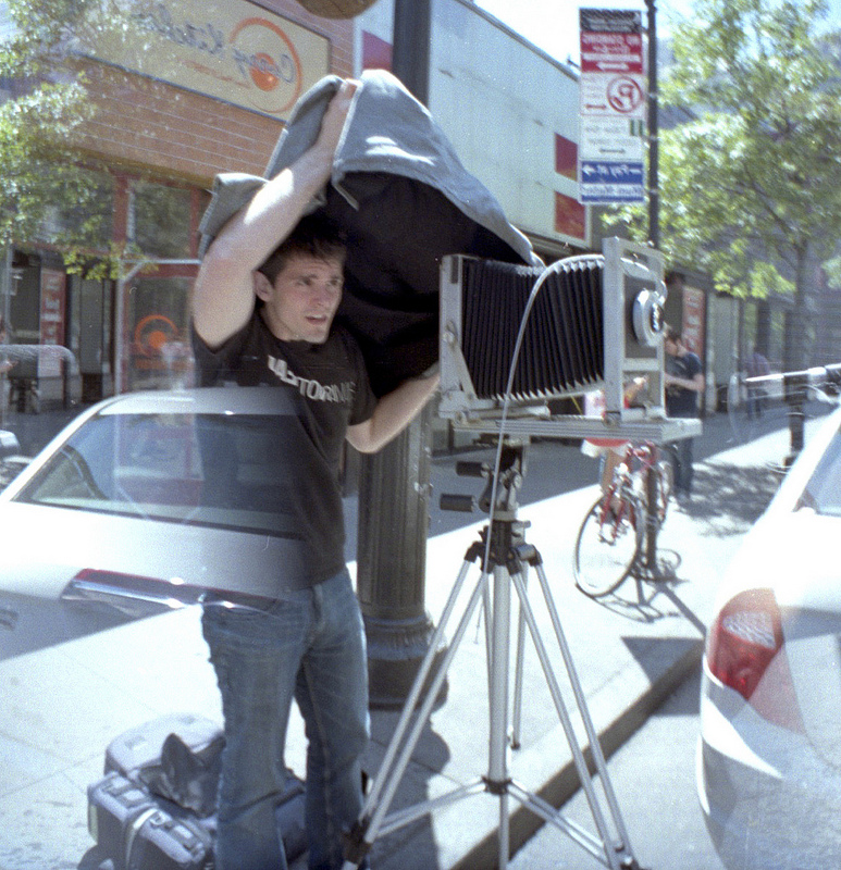 Mat Marrash with Eastman Commercial B 8x10 View Camera. Not unlike the one used by Ansel Adams.