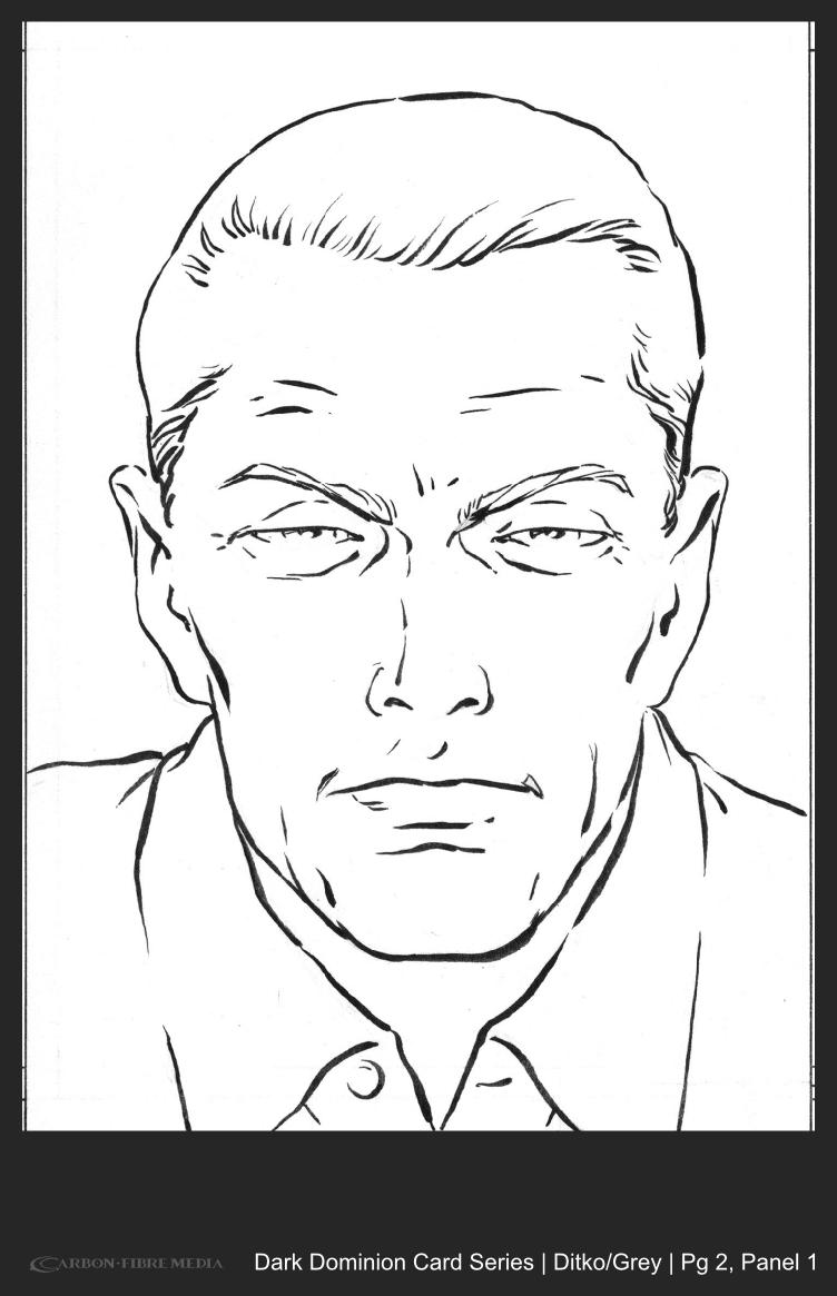 Dark Dominion Card | Ditko/Grey | Page 2 Panel 1