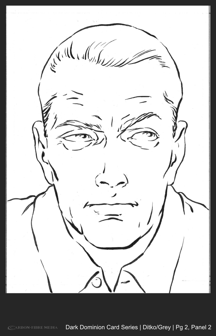 Dark Dominion Card | Ditko/Grey | Page 2 Panel 2