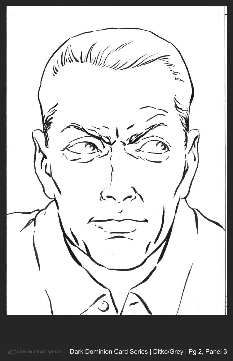 Dark Dominion Card | Ditko/Grey | Page 2 Panel 3