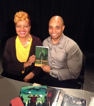 "hARULE STOKES WITH CAROL LEWIS AT ""NEVER TOO LATE"" TAPING"