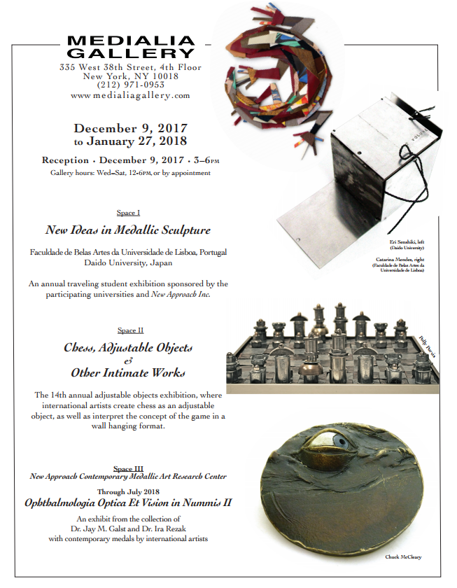 Medialia_Gallery_NYC_NewIdeas_Medalic_Sculpture_Chess_December_2017_January_2018.PNG