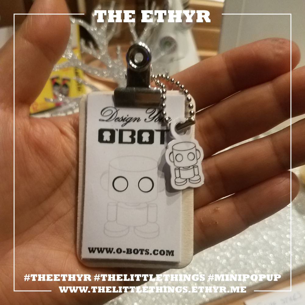 "At our next stop for ""The Little Things"" mini pop up, you can design your own O'BOT!"