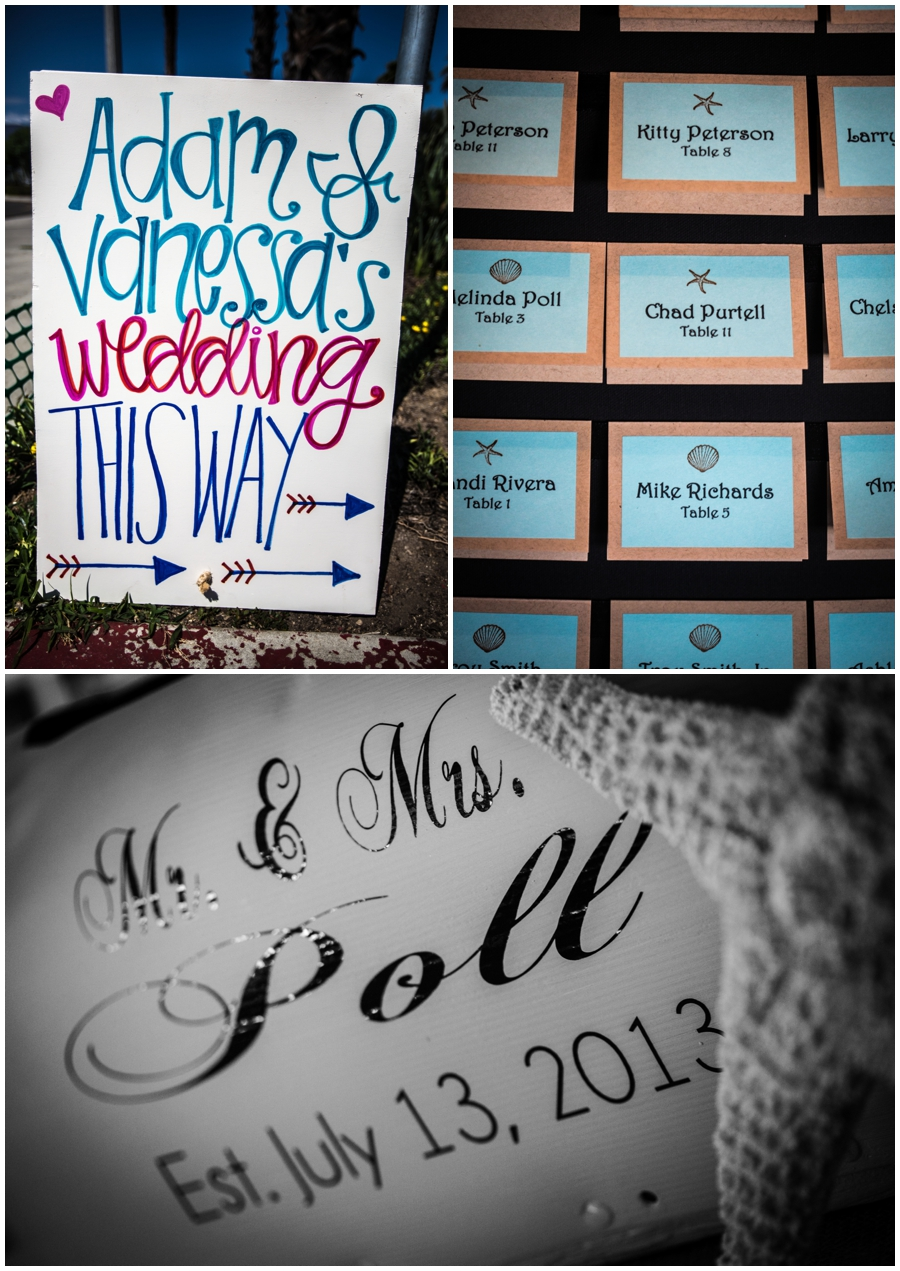 The above picture is of a mailbox where the cards went. Awesome idea! Also this wedding was very well signed - very cute.