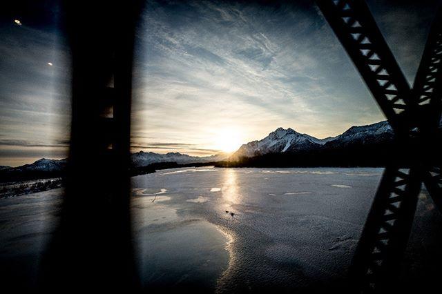 Views from the Ski Train in Palmer, Alaska March 2018