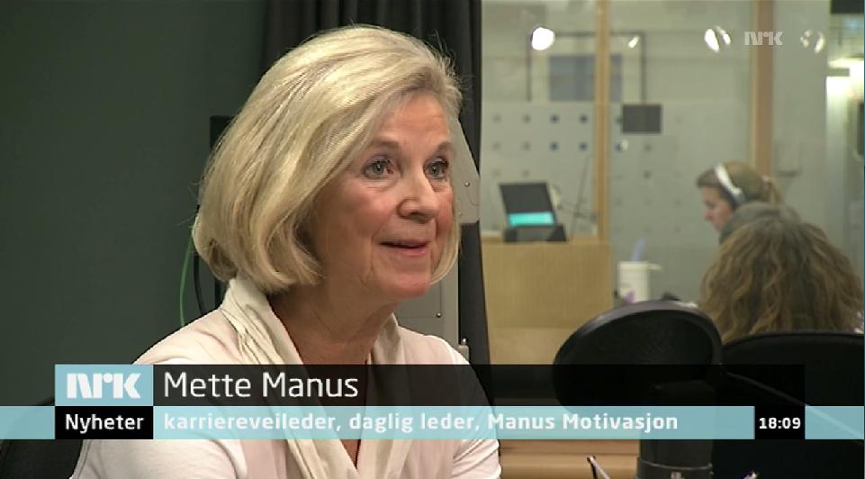 Mette på Dagsnytt 18 på NRK om det å jobbe lenger - 06.11.14