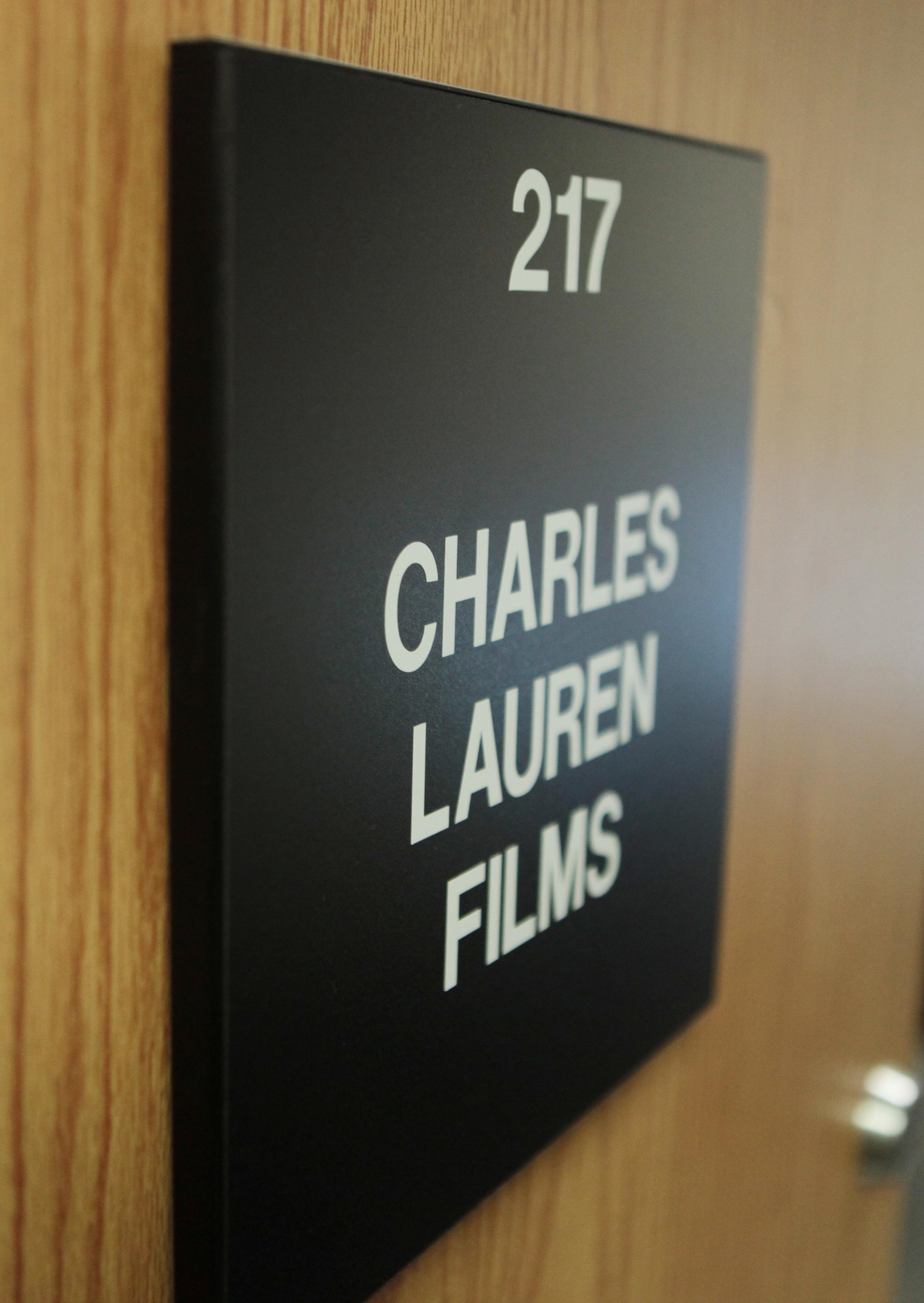 Charles Lauren Films office door today