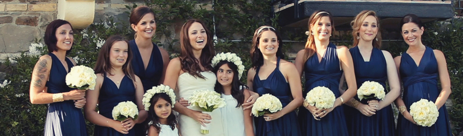 Bridesmaids at a wedding