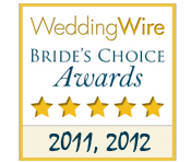 We were voted Wedding Wire Bride's Choice for the last 2 years!