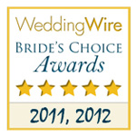 wedding wire brides choice award 2011 and 2012