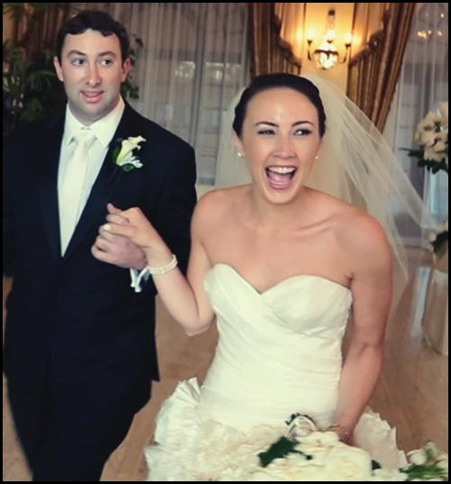 Happy bride at Riviera Country Club Los Angeles