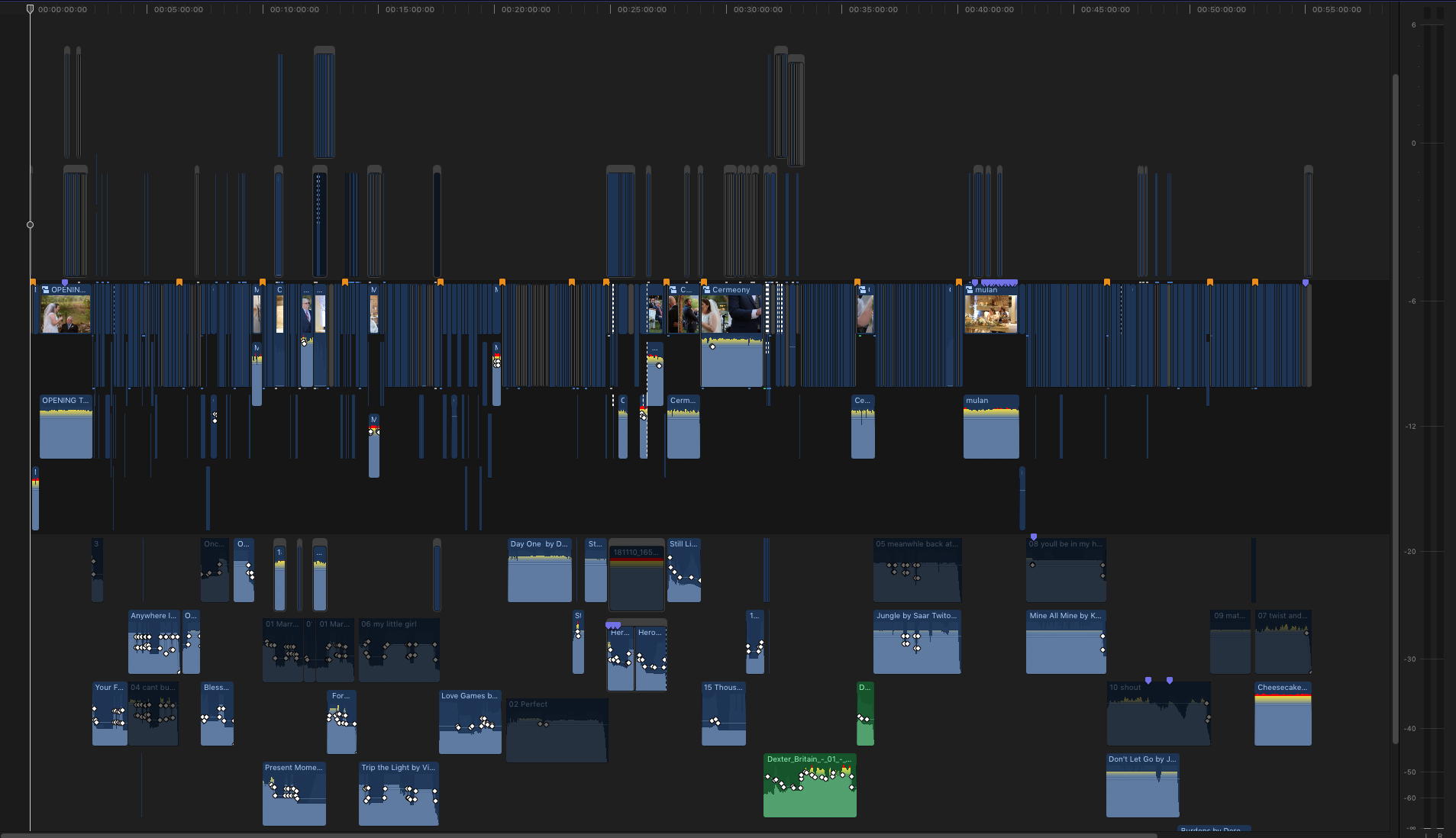 Final Cut X Wedding Timeline
