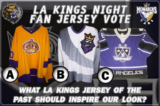 brand new 23eba 7431d Monarchs celebrate Kings' original third jersey — icethetics.co