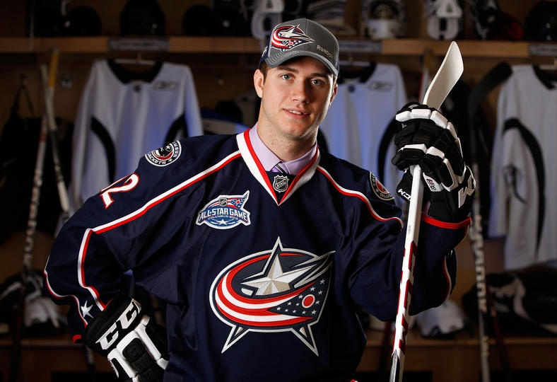 The Blue Jackets introduced their 2013 All-Star Game patch at the  2012 NHL Draft . Expect to see the 2015 version this Friday.
