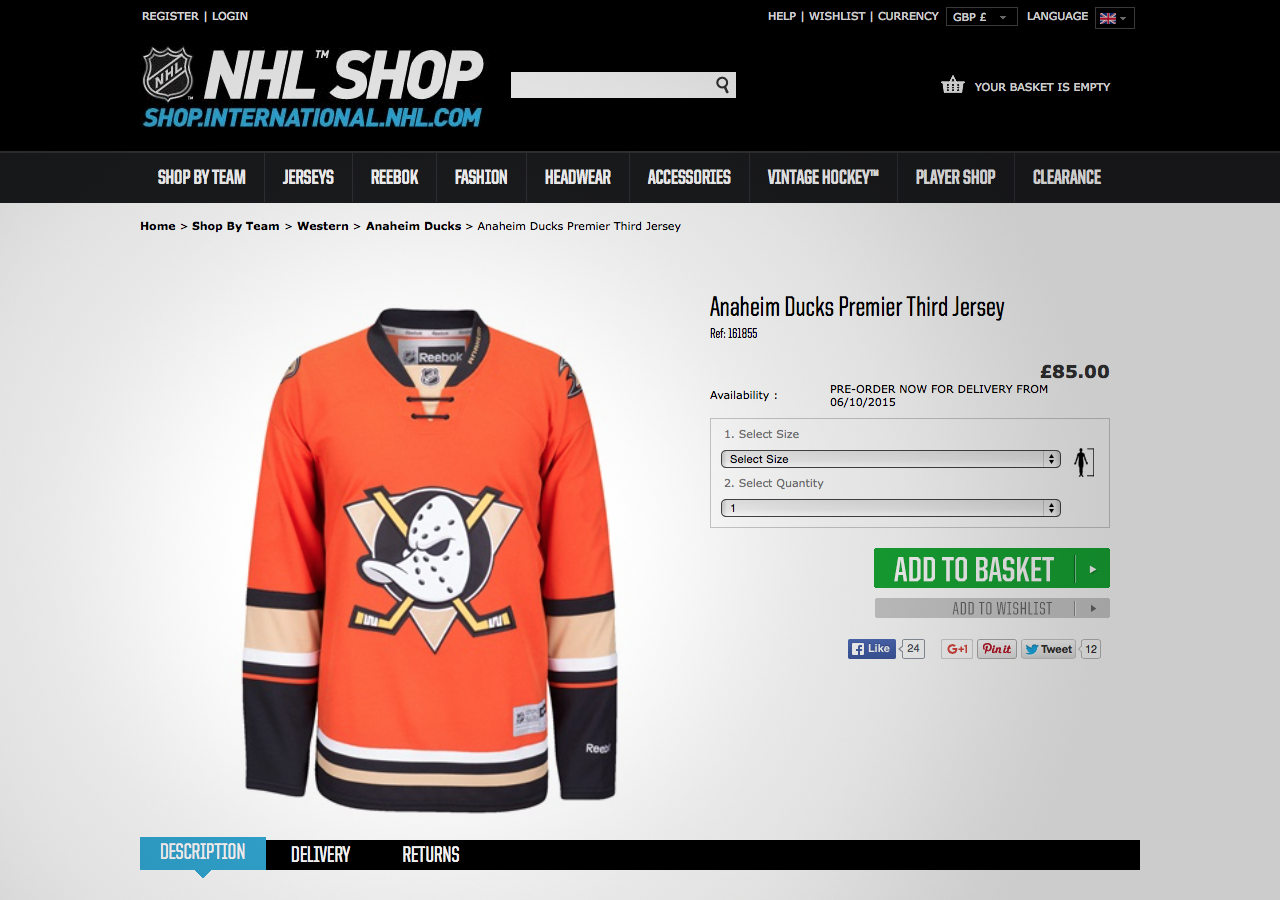 huge discount d89d9 0d1a1 NHL online store accidentally leaks new jerseys — icethetics.co