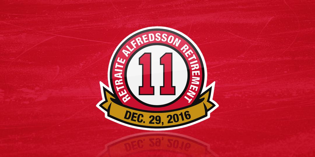 Alfredsson #11 Retired
